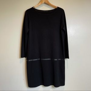 COS • Leather Trimmed Wool Tunic